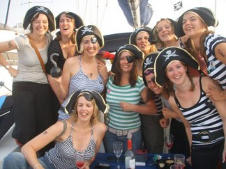 Hen parties sailing days on the South Coast