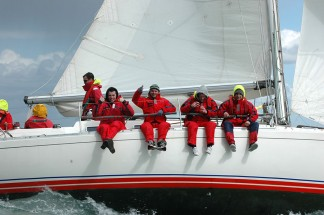 Corporate sailing in the Solent