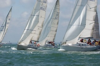 Racing yachts for corporate sailing events in the Solent