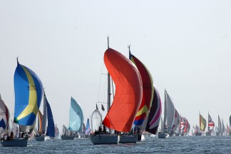Racing yachts for Round the Island regatta