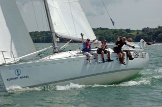 Team building yacht sailing experience in the Solent