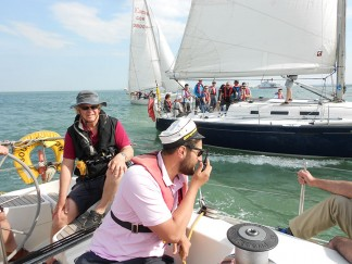 Team building sail training on the Solent