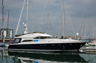 Princess 65 motor yacht for Solent charting